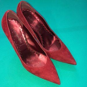 Euc Vera pelle red suede heels 👠 37